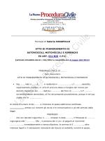 Editrice Formula di Valeria VASAPOLLO ATTO DI PIGNORAMENTO