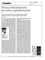 privacy e liberta` sul web secondo un giurista