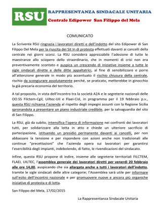 2015.02.17 comunicato rsu