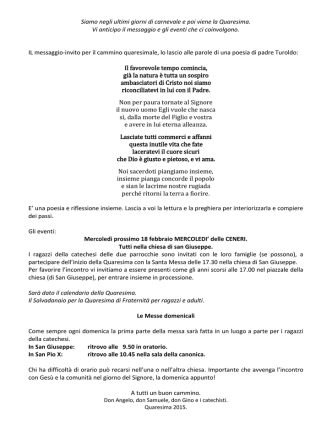 - Parrocchia S. Giuseppe e Parrocchia S. Pio X