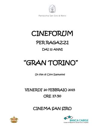 "CINEFORUM ""GRAN TORINO"" - Parrocchia San Siro di Nervi"
