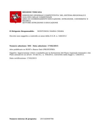 Decreto 17 febbraio 2015, n. 504
