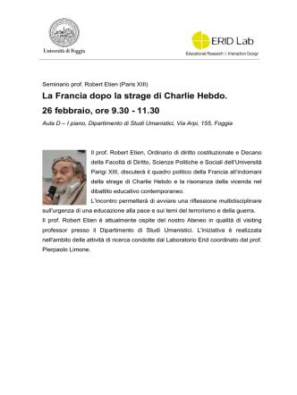 Biografia prof. Etien - Università degli Studi di Foggia