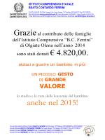"""anche nel 2015! - Istituto Comprensivo """"Beato Contardo Ferrini"""""""
