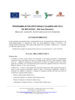 Avviso Pubblico Selezione Esperti Parco Greci Calabria