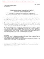 April 28, 2014 United Nations Secretary-General Mr Ban Ki-moon