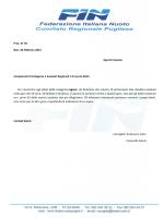 Prot. N° 56 Bari, 20 febbraio 2015 Spett.li Società Campionati di
