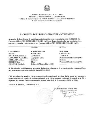 Cammalleri Giovanni - Di Caro Calogera