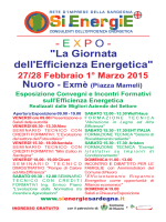 Giornata dell`Efficienza Energetica - SiEnergiE