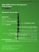SUPSI Cultural Management Cultural Days Giovedì 5 marzo 2015
