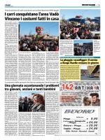 Carnevale, festa dei carri in zona Vadò
