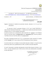 """Circolare n. 179 - Istituto Comprensivo """"Giorgio Gaber"""""""