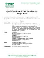 XXXV Combinata degli stili provincia di Reggio Emilia