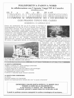Locandina gita Trieste - Polisportiva Padova Nord