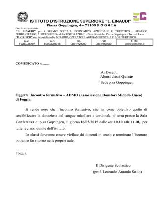 Admo - Istituto di Istruzione Superiore Einaudi