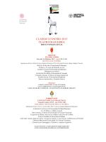 Programma Classici Contro 2015