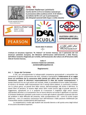 CHL VI edizione - IISS Nicolò Palmeri