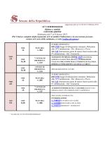 12a COMMISSIONE (Igiene e sanità) CONVOCAZIONI Settimana