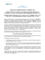 Comunicato Stampa OPAS su Rai Way ex art. 102 TUF