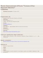 regolamento concorso di poesia - Comune di San Pancrazio Salentino