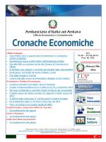 Cronache Economiche N.5 - Ambasciata d`Italia in Turchia