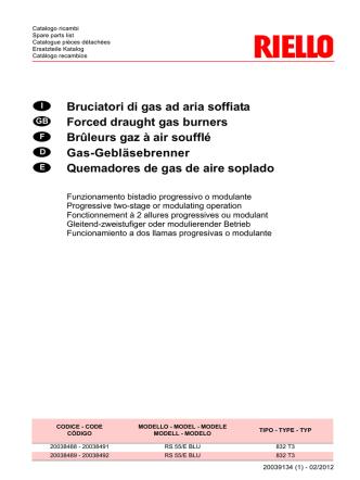 Bruciatori di gas ad aria soffiata Forced draught gas