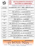 Prossime Partite - ASD Polisportiva Rovinata