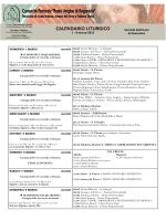 clicca qui per il calendario liturgico settimanale