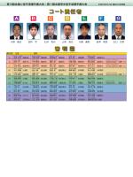 審判リスト・コート毎試合進行表