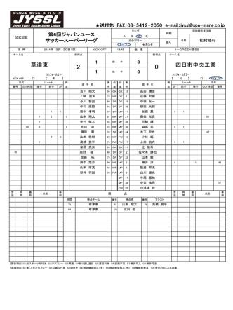 2-0 - ジャパンユースプーマスーパーリーグ
