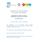BANDO VALORE VACANZA 2015