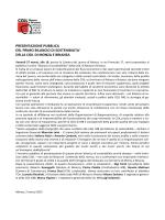 PRESENTAZIONE PUBBLICA DEL PRIMO