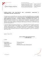 06 Marzo 2015 - Banca Popolare di Spoleto