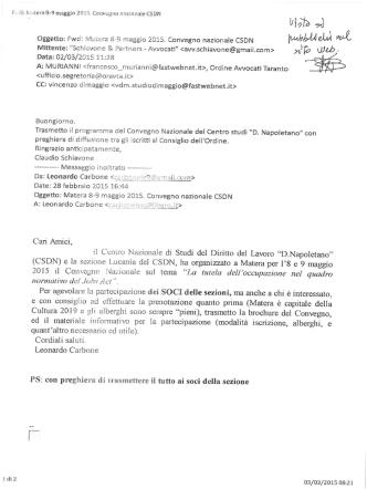 Convegno nazionale CSDN - Matera 8