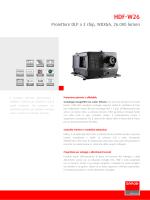 HDF-W26 - Specifiche tecniche