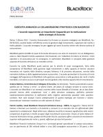 EUROVITA ANNUNCIA LA COLLABORAZIONE STRATEGICA CON