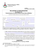 Relazione comunicazione asseverazione