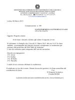 Comunicazione n. 140 PROGETTO CINEMA