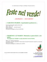 Feste nel verde - Ludocascina la Ciliegia e il Gioanin