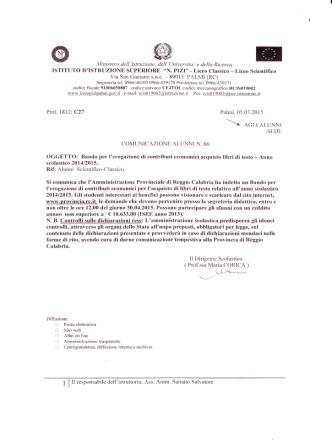 A.S. 2015-16. - liceo nicola pizi