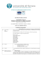 web content specialist - Università degli Studi di Ferrara