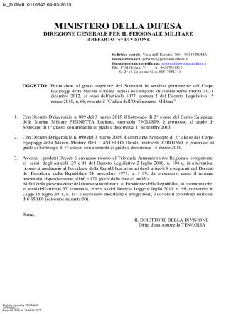 aliq. 2012 - Circolare n. M_D GMIL 0116643 del 04.03.2015