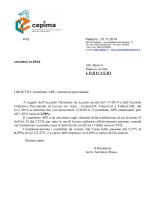 CIRCOLARE 2014-04 Contributo Ape, variazione percentuale