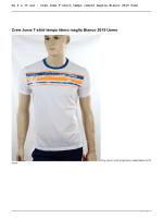 Crew Joma T-shirt tempo libero maglia Bianco 2015