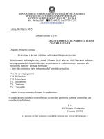 Comunicazione n. 138 PROGETTO CINEMA