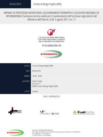 05/03/2015 Cerese di Borgo Virgilio (MN)