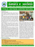 natura e società - Federazione Nazionale Pro Natura