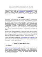 disclaimer / termini e condizioni di utilizzo