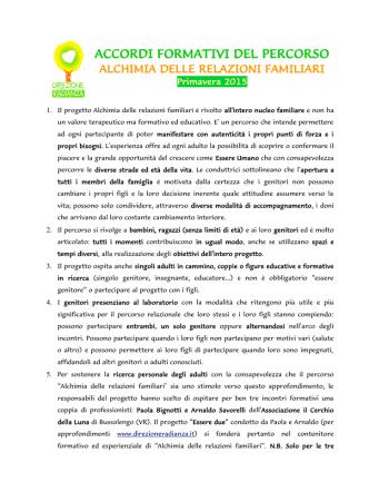ACCORDI FORMATIVI DEL PERCORSO