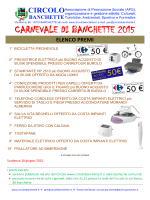premi in palio - Circolo Banchette Carnevale